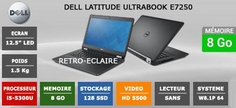 "Dell E7250 12.5"" recondtionné"