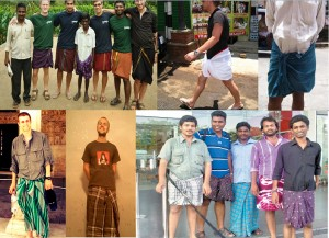 The Way People Wear Lungi