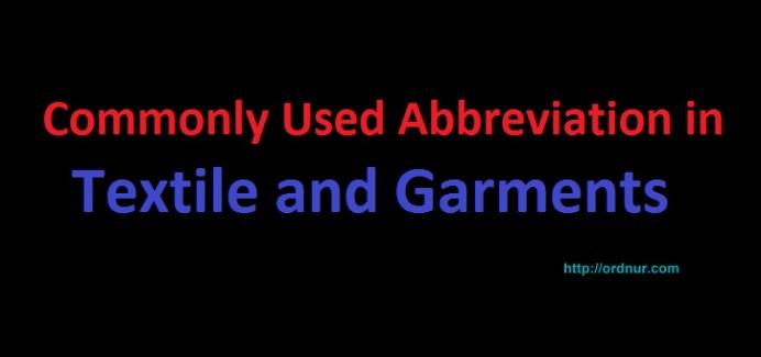 textile and garments abbreviation