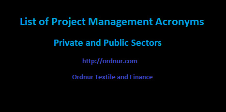 List of Project Management Acronyms