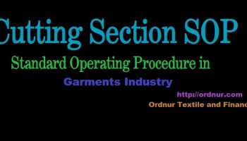 Cutting Section SOP in Garments Industry