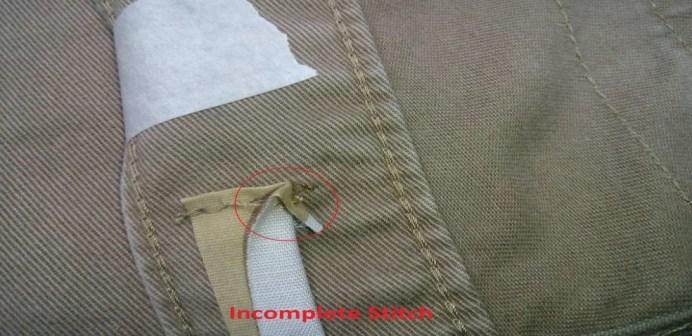 Incomplete Stitch