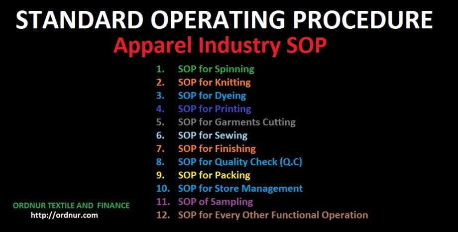 Apparel Industry SOP