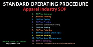 Apparel Industry SOP  ORDNUR TEXTILE AND FINANCE
