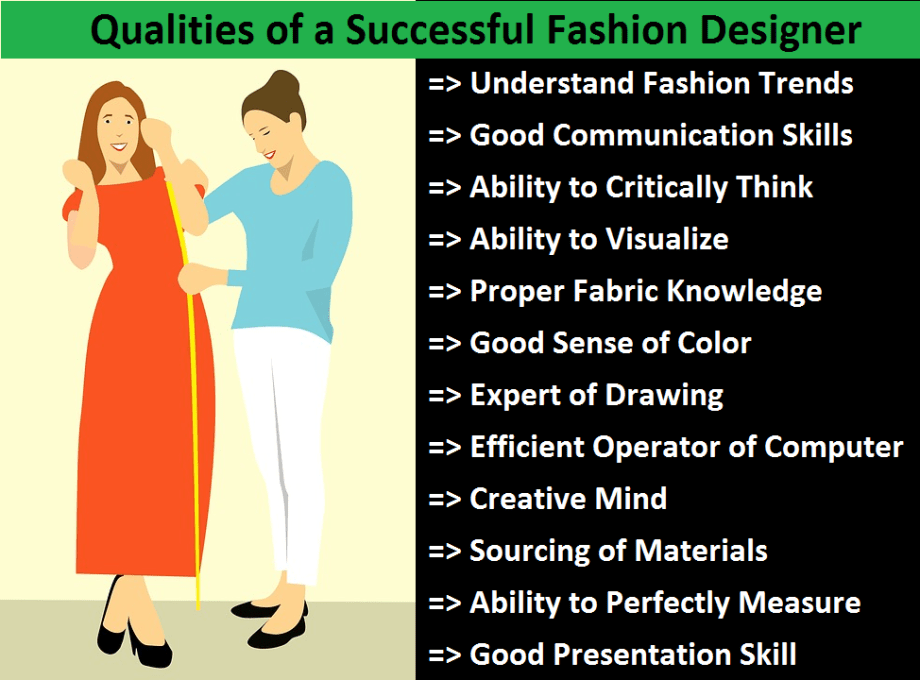 12 Qualities of a Fashion Designer