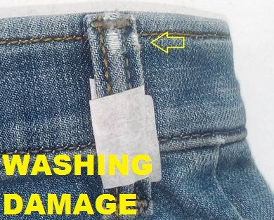 Washing Damage