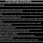 Property Manager Job Description