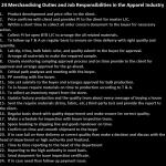 Merchandising Duties and Responsibilities in Garments Factory