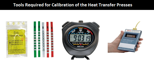 Tools Required for Calibration of the Heat Transfer Presses