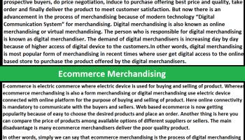What is Digital Merchandising and E-commerce Merchandising