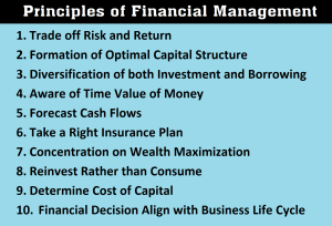10 Principles of Financial Management