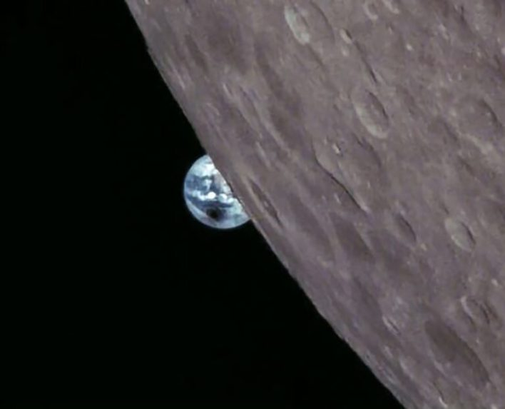 total solar eclipse from the orbit of the moon 2
