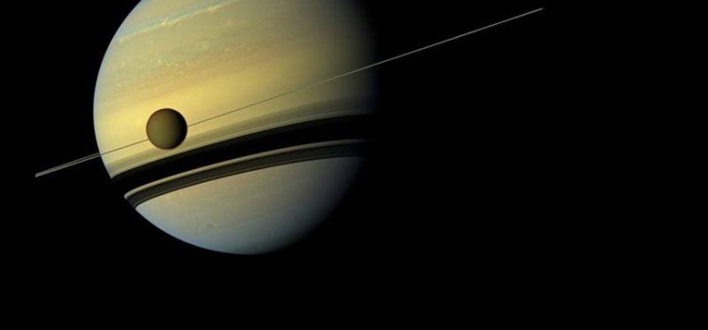 Saturns satellite Titan seeks to leave the orbit of the gas giant