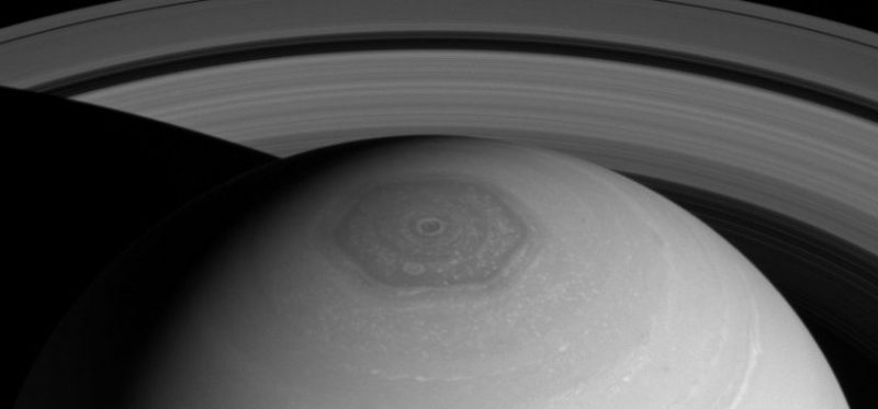 Scientists have discovered how a giant hexagonal storm of Saturn arose