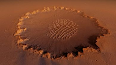 Photo of One flew over Mars: Victoria Crater