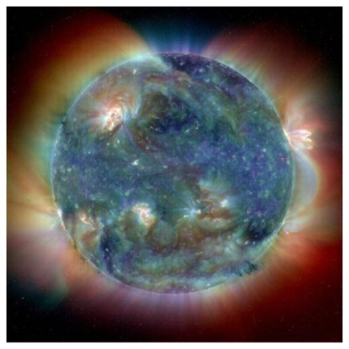 Powerful eruptions on the Sun