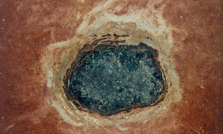 Ancient meteorites can be found in rocks in the form of fossils