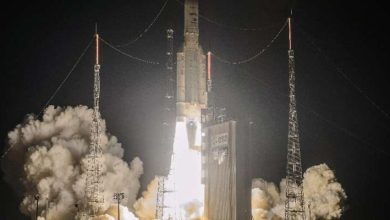 Photo of Ariane rocket put telecommunications satellites into orbit