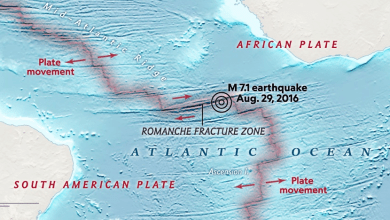 Photo of Boomerang earthquake recorded at the bottom of the Atlantic Ocean
