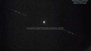 Photo of Falling meteorite recorded over Toledo, Spain