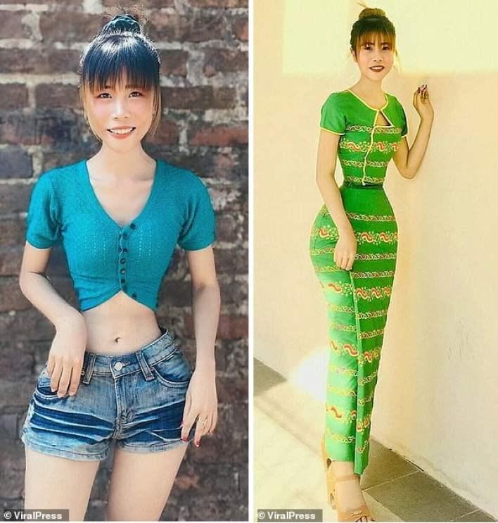 Girl with an incredibly narrow waist 3