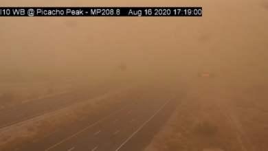 Photo of Heavy dust storm hits Phoenix, Arizona