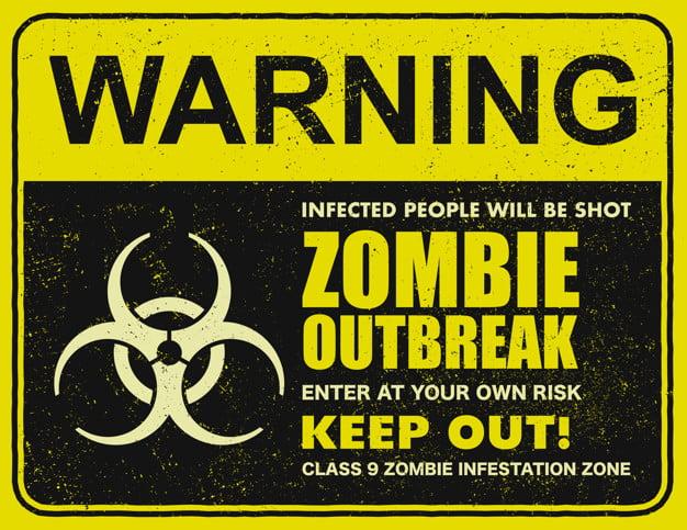 zombie outbreak sign board illustration 150500 342