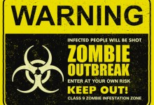 zombie outbreak sign board illustration 150500 342