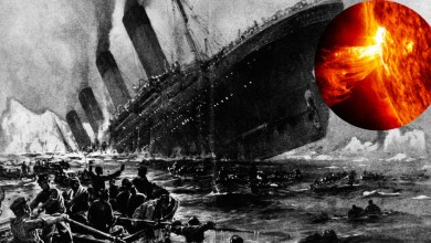 "Photo of The new version of the crash of the ""Titanic"": the liner was destroyed by a powerful flash on the Sun"