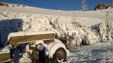 Photo of About 15cm of snow fell in Kyrgyzstan