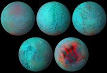 Photo of Fresh ice found on Enceladus