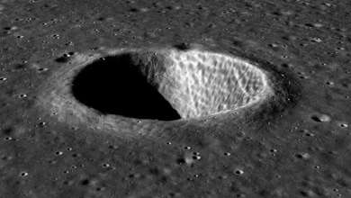 Photo of Astronomers spot a mysterious 17-meter object in a lunar crater