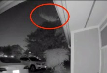 Photo of UFO flew over a house in Irving, Texas, US