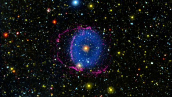 Merging stars create a ring nebula