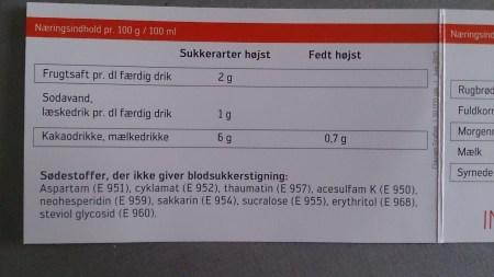 På indkøbskortet står der hvilke sødestoffer jeg kan tåle. Det er en stor hjælp når jeg handler ind