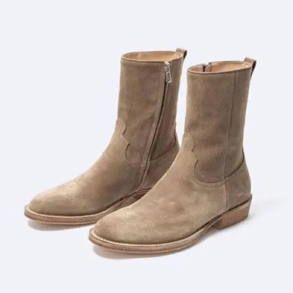 nonnative×MINEDENIM Side Zip Boots