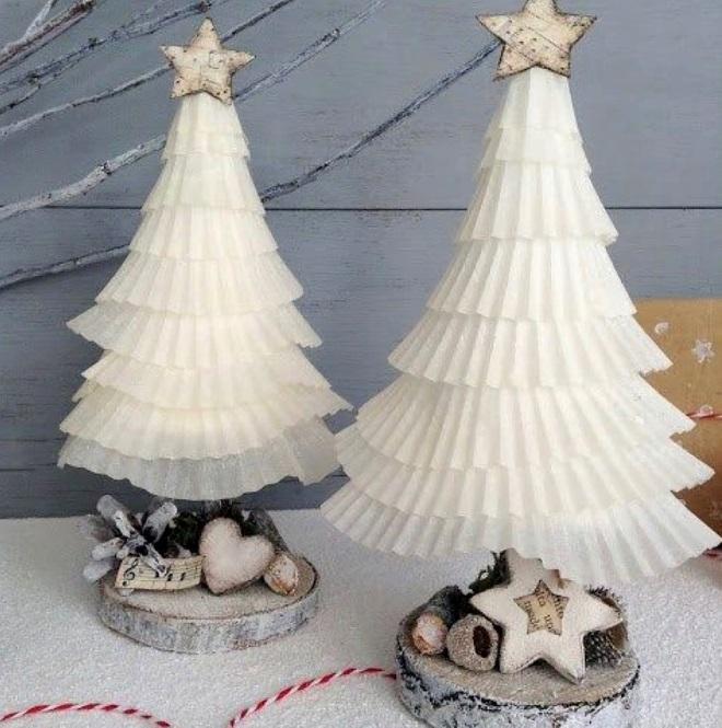 Árboles de navidad de papel severed