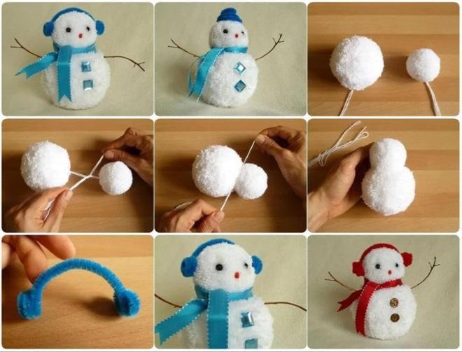 Muñeco de nieve de Pompon