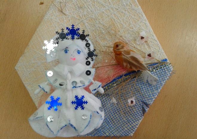Sněhurka z bavlněných disků