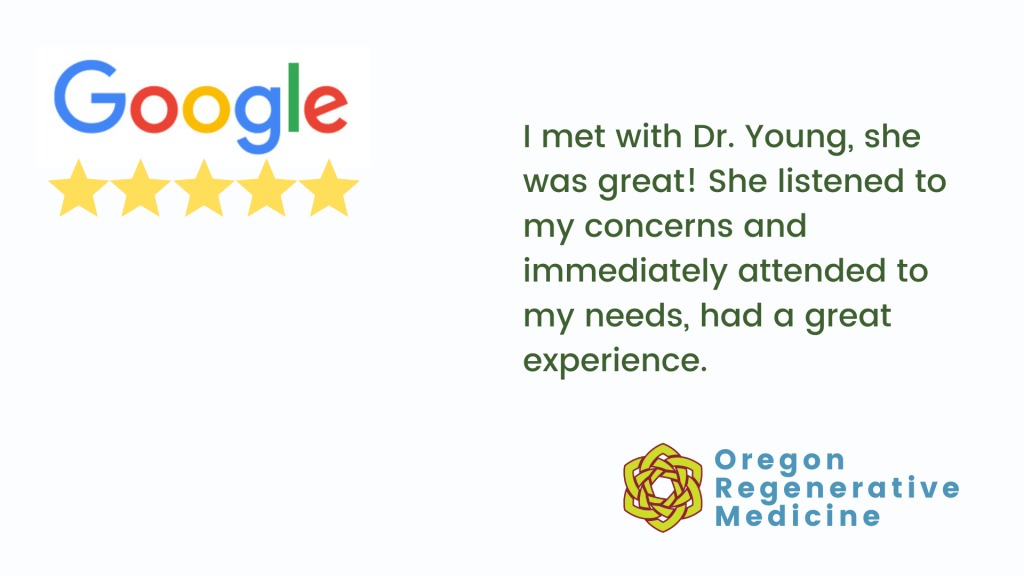 Google review Dr. Michelle Young