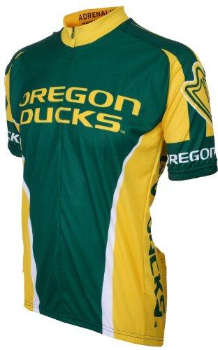 Green//Yellow NCAA Men/'s Adrenaline Promotions Oregon Ducks Cycling Jersey