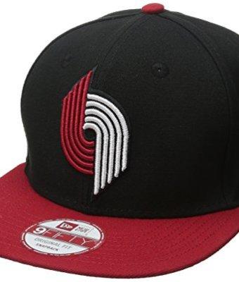 NBA-Portland-Trail-Blazers-Hardwood-Classics-2Tone-Basic-9FIFTY-Snapback-Cap-One-Size-BlackRed-0