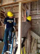 Installing the stair sections