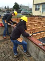 Nailing down the joists