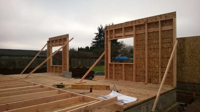Two exterior walls done