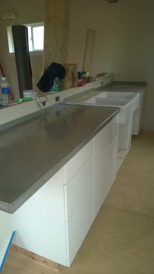 Finished concrete countertops