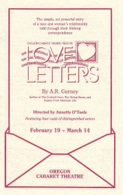 Love Letters Playbill