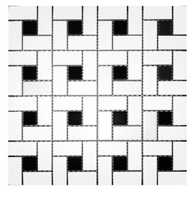 http oregoncitycarpet com product alameda white and black pinwheel tile mosaics