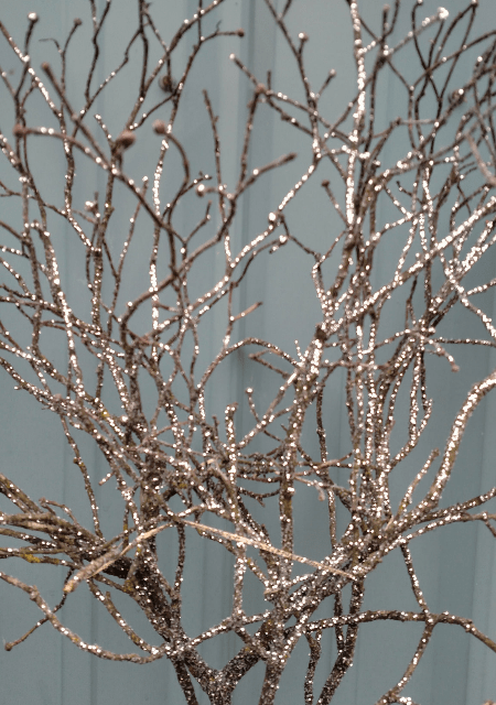 Holiday Glittered Branches