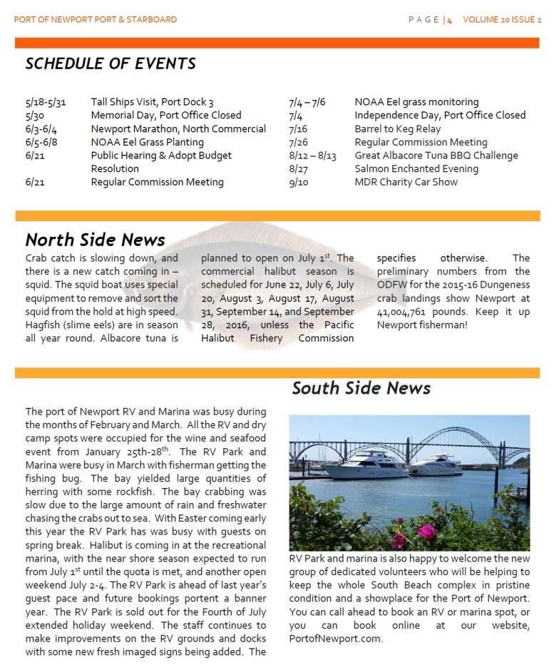 Jun2016 - Port of Newport - Port & Starboard Newsletter Volume 20 Issue 2 online edition 4